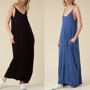 Sun-Gazer Pocket Maxi Dress